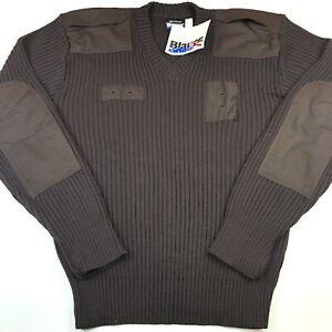 Blauer Men's 3XL 210 Brown V-Neck Commando Uniform Sweater Police Security NWT