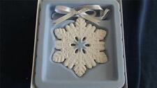 Wedgwood White & Blue Jasperware 2014 SnowFlake Ornament 40000694 New In Box