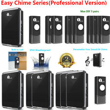 1byone Wireless Door Bell Battery Operated Chime Waterproof Battery Push Button