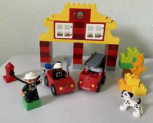 LEGO DUPLO 6138 MY FIRST FIRE STATION 100% COMPLETE WITH FIGURES