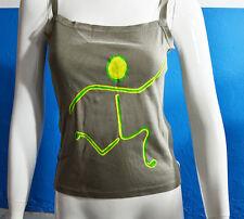 Camiseta tirantes mujer pintada a mano talla P, 100% original y única