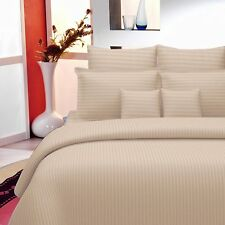 Handmade Luxury Plain King Size 100% Cotton Bed Sheet With Two Pillow Covers