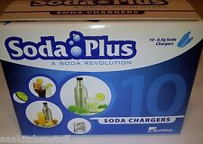30 CO2 New 8g SODA PLUS chargers 8 gram C02 cartridges carbonated seltzer water
