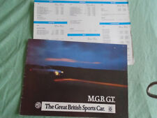 MGB GT range brochure c1972 Dutch text + price list dated 1975
