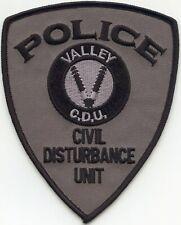 VALLEY ALABAMA AL Civil Disturbance Unit CDU POLICE PATCH