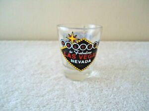 "Vintage Welcome To Fabulous Las Vegas Nevada Shot Glass "" BEAUTIFUL COLLECTIBLE"