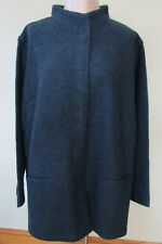 J.Jill Pure Jill Coat    XL   NWT  $169  Textured BLUE Marled Coat