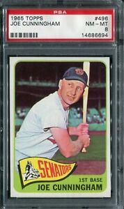 1965 Topps #496 Joe Cunningham PSA 8 NM-MT
