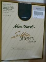 Nice Touch Silken Sheers 20 Denier Control Top Pantyhose everGreen  Average vtg
