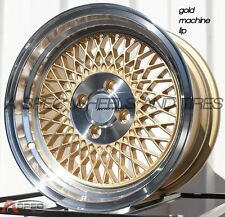GOLD 15X8 +25 AVID.1 AV-18 4X100 RIM FIT INTEGRA GSR DC2 MIATA CIVIC SI XB FIT