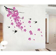 Vinilo Decorativo Adhesivo Removible Pegatina Flores rosas y pajaros JM8010