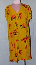 Dorothy Perkins  Tall Yellow Floral Print Dress size 20