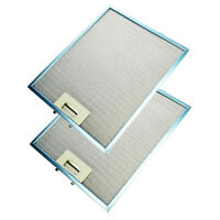 2 x UNIVERSAL Metal Cooker Hood Mesh Aluminium Grease Filters 320 x 260mm