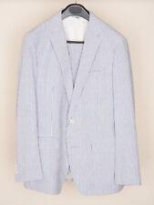 Bonobos Blue White Seersucker Suit Standard Fit 40R