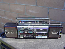 Sanyo M CD40 CD Portable Radio Cassette Recorder Vintage Boombox Made In Japan N