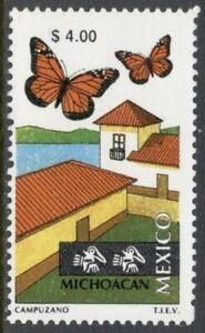 Mexico Scott #1973 MNH $4 Michoacán Tourism Butterflies CV$3+