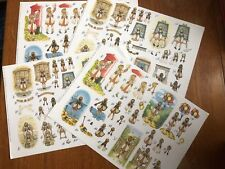 Decoupage sheets x 4: Girl / Child Designs ** BRAND NEW**