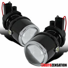 H3 Glass Projector Fog Lights Driving Bumper Lamps with Brackets(Fits: Neon)