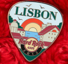 Hard Rock Cafe Pin LISBON Postcard GUITAR PICK series LE200 RAINBOW facade house
