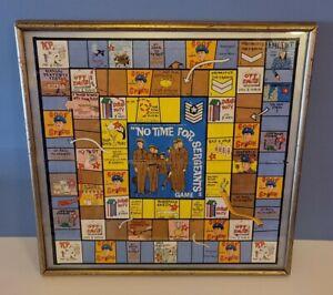 Vintage 1964 No Time For Sergeants Game Board Framed