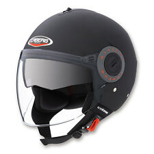 CASCO MOTO SCOOTER JET DEMI-JET CABERG RIVIERA V3 FLAT BLACK NERO OPACO TG. XL