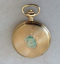 Nastrix Swiss 17 Jewel Incabloc Hunting Case Nastrix Pocket Watch Gold Plated!
