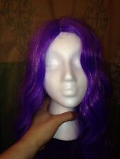 Purple /Lavender Wig Synthetic Worn Once USA ~COS PLAY READY!! Halloween Perfect