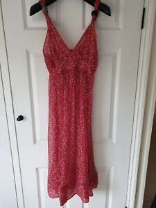 Etro Rose Red 100% Silk Dress. Size S.