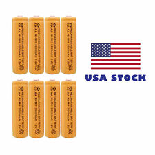 8 x AA rechargeable battery Cell 3000mAh Ni-Mh 1.2V for MP3 RC US Stock
