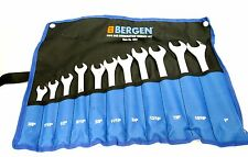 "BERGEN 11pc Imperial / SAE / AF Combination Spanner Wrench Set 3/8"" - 1"" 1853"