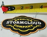 """Stormcloud Brewing Company Fabric Patch Beer 4"""" *Free Shipping*"""