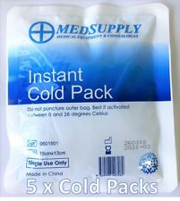 5 x INSTANT COLD PACK, COLD COMPRESS, PAIN & SWELLING RELIEF, TGA REGISTERED