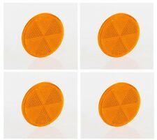 Reflektoren Rückstrahler Katzenaugen Seitenstrahler selbstklebend Gelb rund