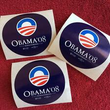 3 (THREE) Barack Obama - Stickers 2008