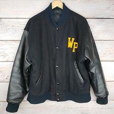 Vtg West Point Letterman's Varsity Jacket, Wool Leather, MV Sport Mens M Army