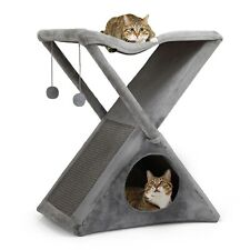 New listing 26'' Cat Tree Tower Foldable Pet House W/ Scratching Post Kitty Tree Cat Condos