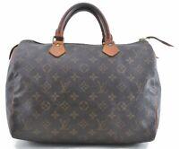 Authentic Louis Vuitton Monogram Speedy 30 Hand Bag M41526 LV C0675
