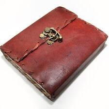 Lederbuch mit Bügel Schloss Kladde Notizbuch Tagebuch Buch Leder 13x11cm