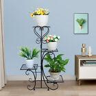 Outdoor/Indoor Metal Plant Stand Shelf Waterproof Rust-proof Garden Flower Rack