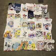 Vintage Wholesale Woman T shirt 30 Lot 00s Bundle Disney Nickelodeon Marvel
