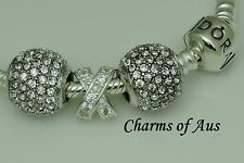 GENUINE Pandora bracelet all sizes + 3 stunning charms. Christmas Special