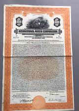 1927 Int 00006000 ernational Match Corporation ~ $1,000 Gold Bond - Very Rare ~ Delaware