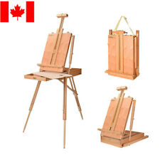 LIVINGbasics® Fordable Wooden French Art Easel Stand for Field Painting &Drawing
