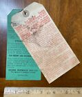Vintage product advertising tags Sears Roebuck small engine instructions