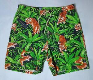 Polo Ralph Lauren BIG &TALL MENS Tiger-Print Traveler Swim Shorts/SWIM TRUNK :LT