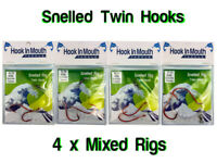Snapper Rigs Twin Snelled Hooks - Mulloway Fishing Rig - Pick Your Hook Size