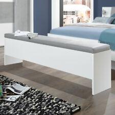 Betttruhe Virgo Sitztruhe Bettbank aufklappbar in weiß mit Polster hellgrau