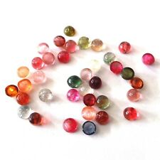 NATURAL MULTI-COLOUR TOURMALINE ROUND LOOSE GEMSTONES 6 PCS - 3.5 to 3.7 mm LOT