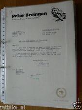 HT076-ORIGINAL AUTOGRAPH PETER BREINGAN 125 YAMAHA BRIGG HONDA 500 ,AUTOGRAMM,