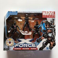 "Marvel X-Force Pack 3.75"" Figures (X-Men, Warpath, Deadpool, Wolverine) RARE"